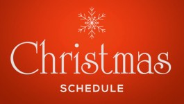 Working schedule during Christmas and New Year's holidays