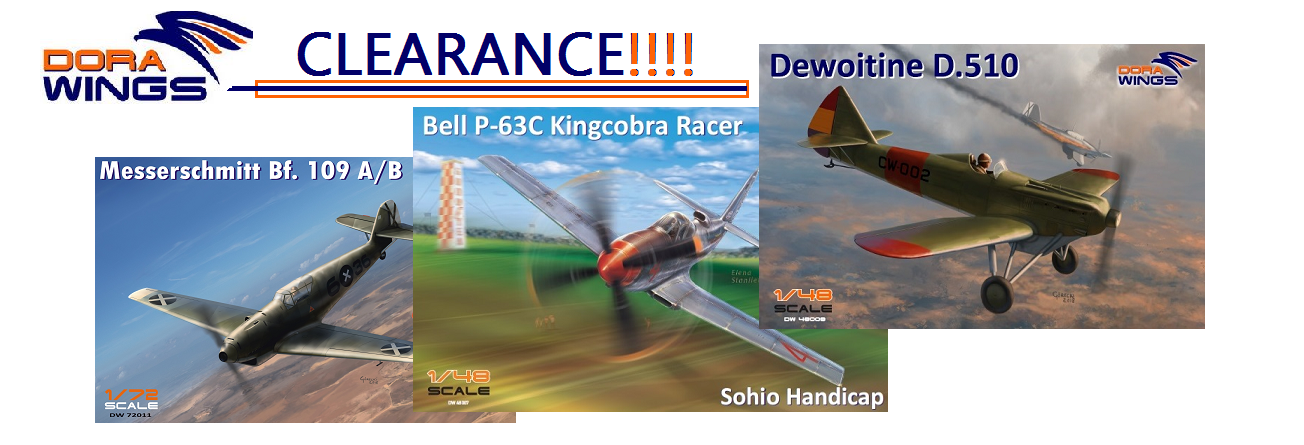 "Autumn Clearance of ""Dora Wings"" scale kits"
